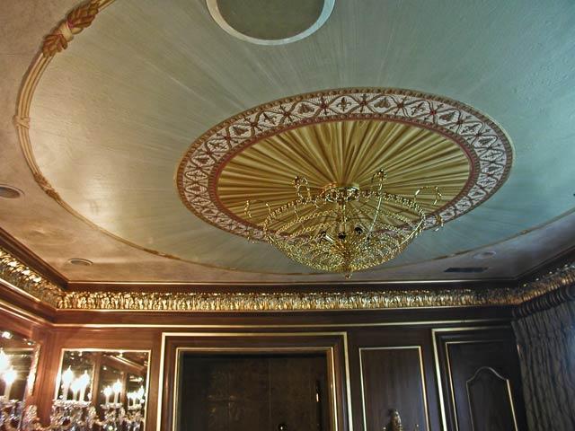 Pine Street Studios > Decorated Ceilings: Master Bath: Faux Fabric ...