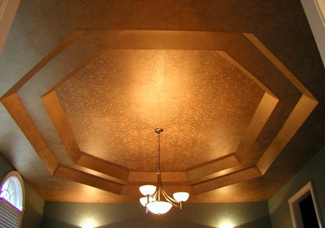 Mica Ceiling: With Stenciling