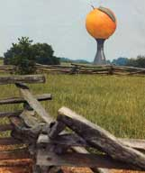 Peach water tower