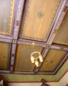 Stencilled coffered ceiling