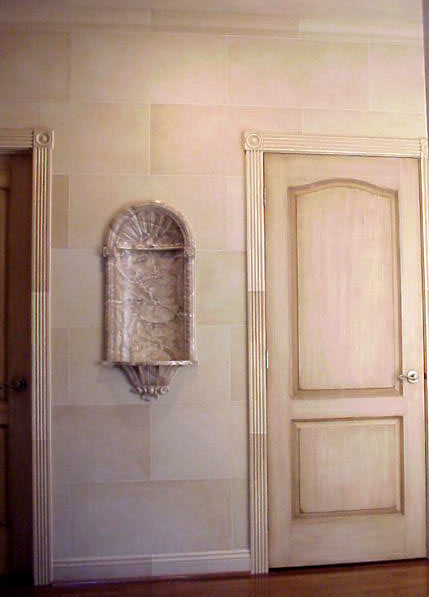 Specializing in all manner of painted decoration. « - Pine Street Studios > More Faux Finishes: Stone Block Antique Door