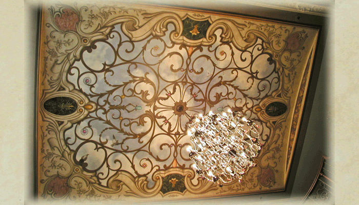 Faux Ironwork Ceiling 2